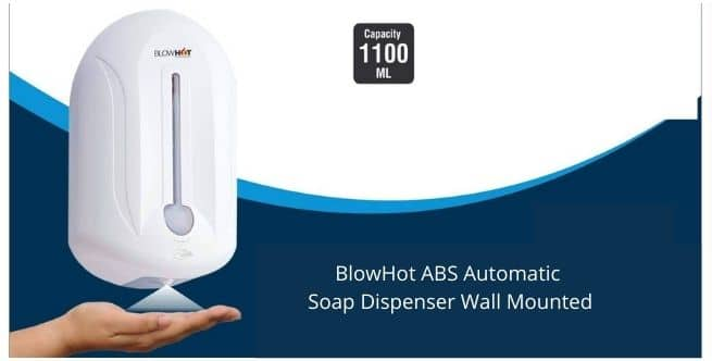 BlowHot ABS Automatic Soap Dispenser Wall Mounted
