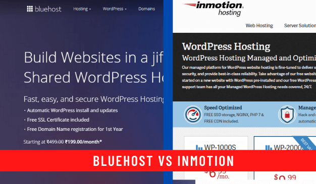 Bluehost vs inMotion