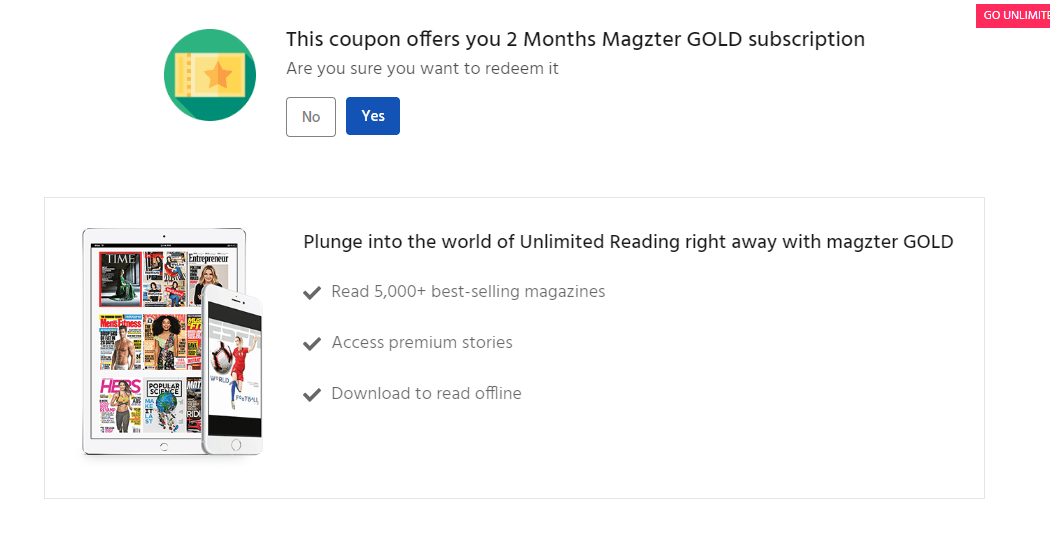 Magzter for free